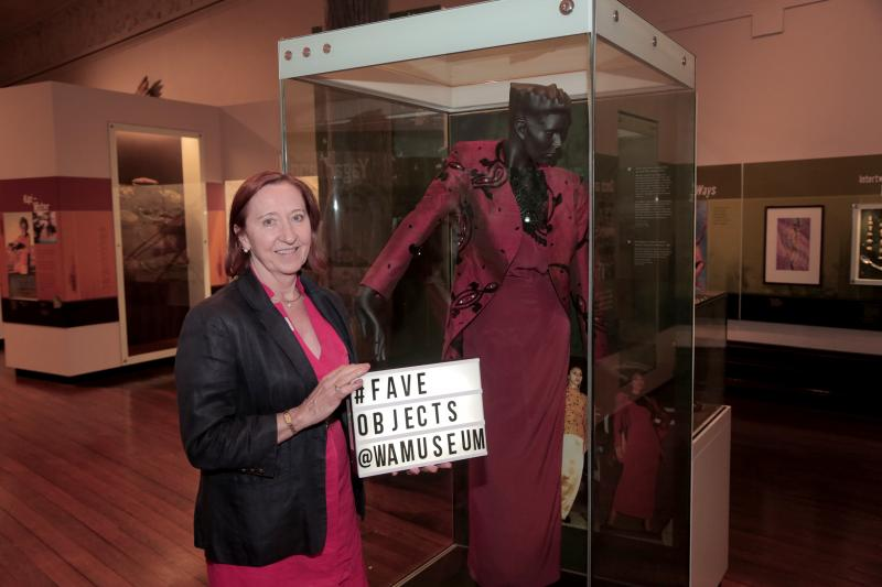 Clare-Frances Craig with her favourite object - gown and jacket