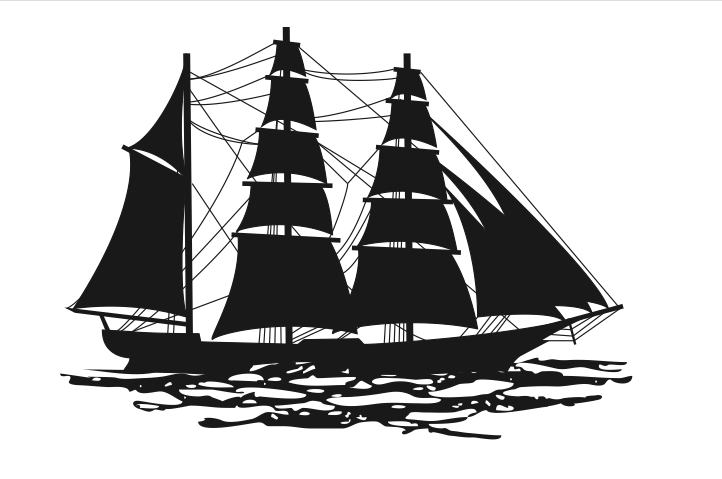 Silhouette of a barque
