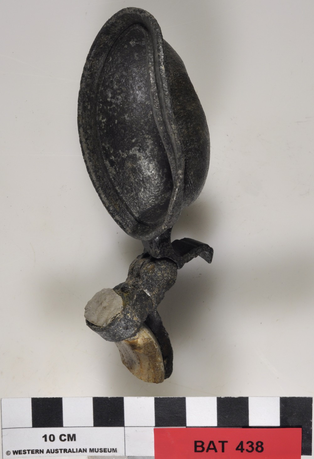 Pewter artefact recovered from Batavia