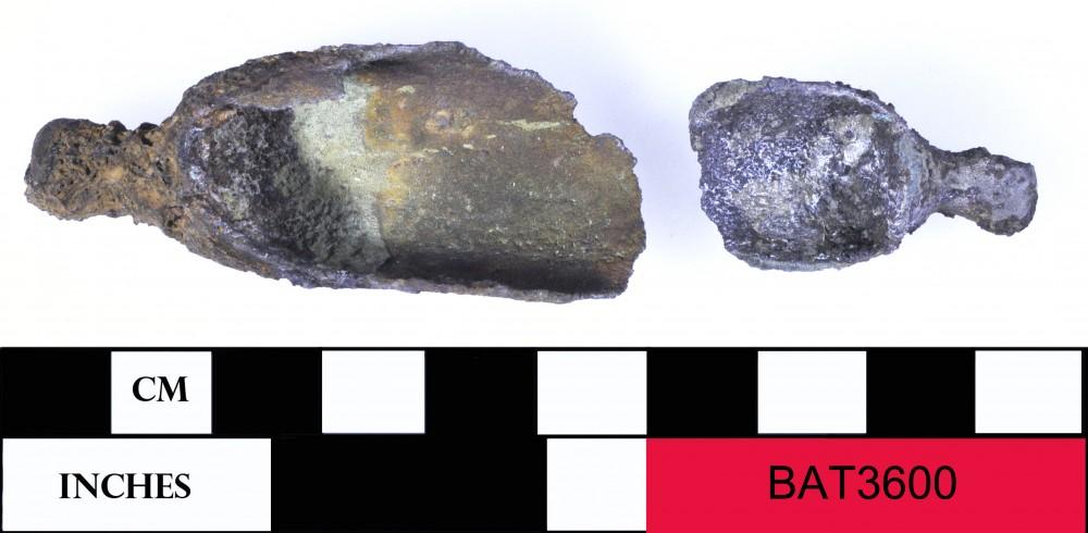 Copper/brass artefact recovered from Batavia