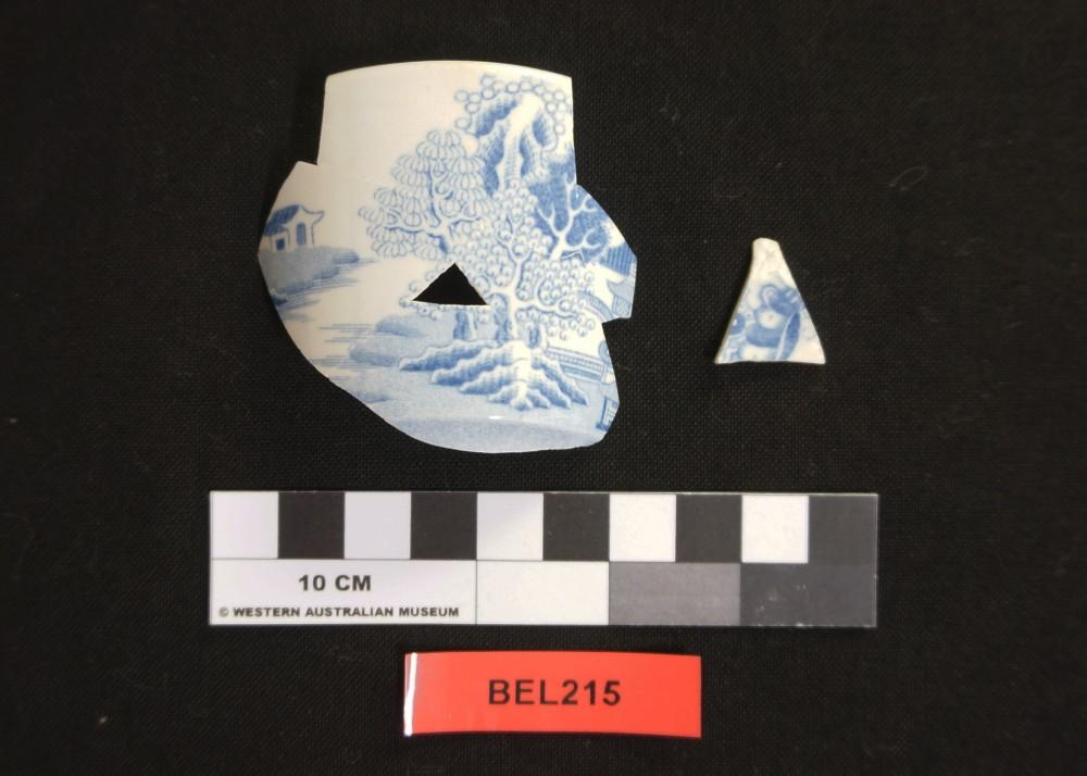 Porcelain artefact recovered from Belinda
