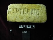 Bricks artefact recovered from Carlisle Castle