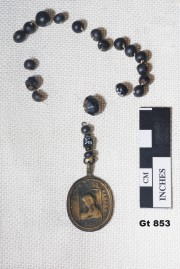 Glass artefact recovered from Vergulde Draak (Draeck) (Gilt Dragon)