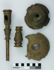 Copper/brass artefact recovered from Vergulde Draak (Draeck) (Gilt Dragon)