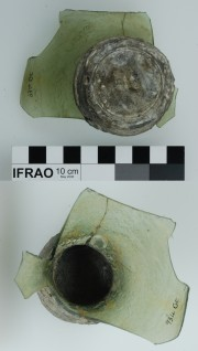 Pewter artefact recovered from Vergulde Draak (Draeck) (Gilt Dragon)