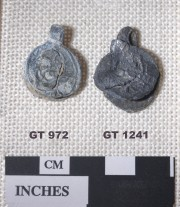 Lead artefact recovered from Vergulde Draak (Draeck) (Gilt Dragon)
