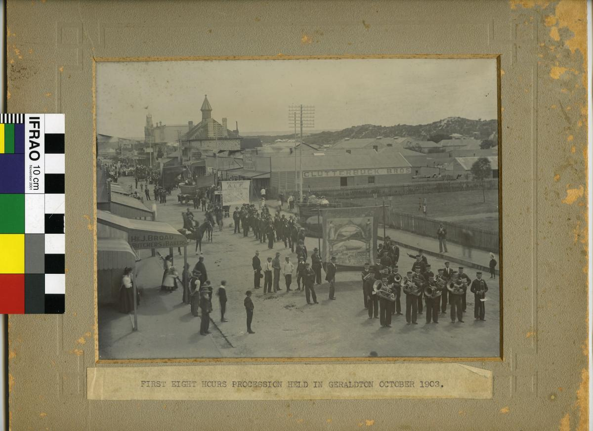 PHOTOGRAPH, Eight Hours Procession, Geraldton 1903
