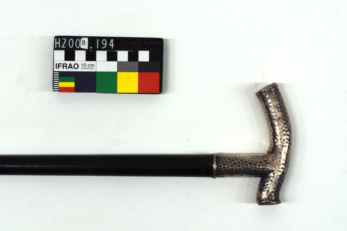 WALKING STICK, 'Behrens/KIEL', silver handle