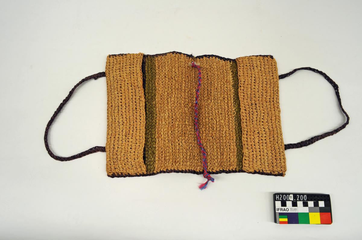 BOOK COVER, raffia, striped, handle
