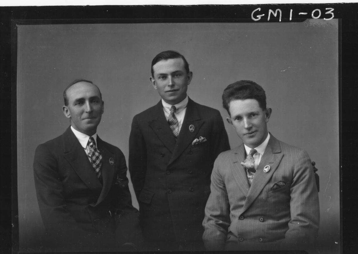 Three men in suits, H/S.