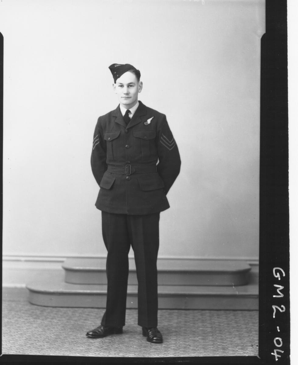 Portrait of man in airforce uniform, F/L,'James'.