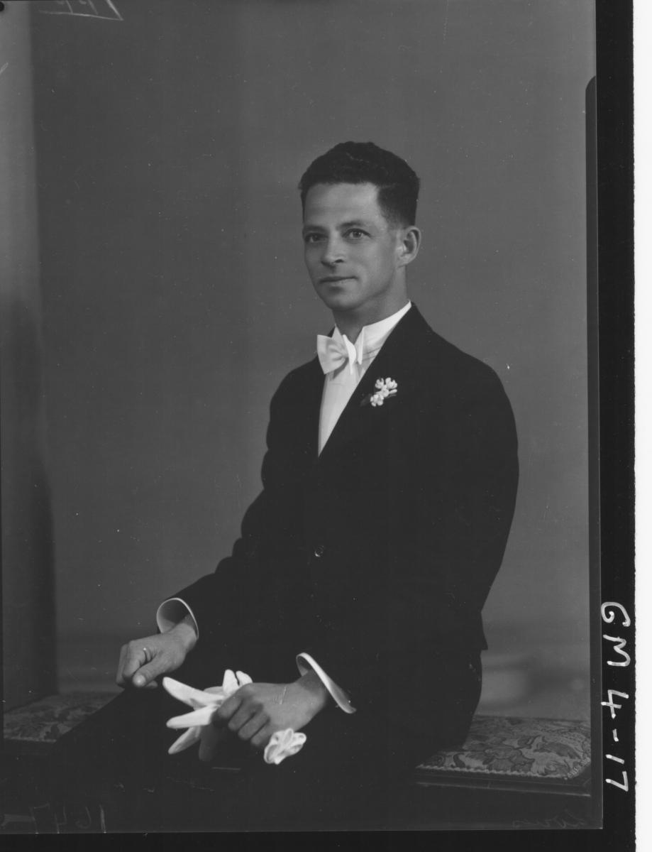 Portrait of man in evening suit, H/S Loves/Louis? Lewis La Insurance Agent.