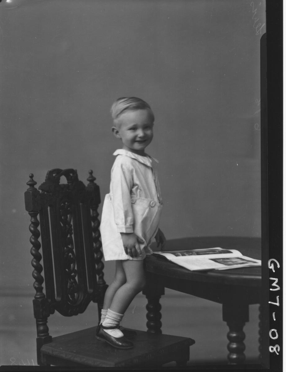 Portrait of young boy, F/L Lewis.