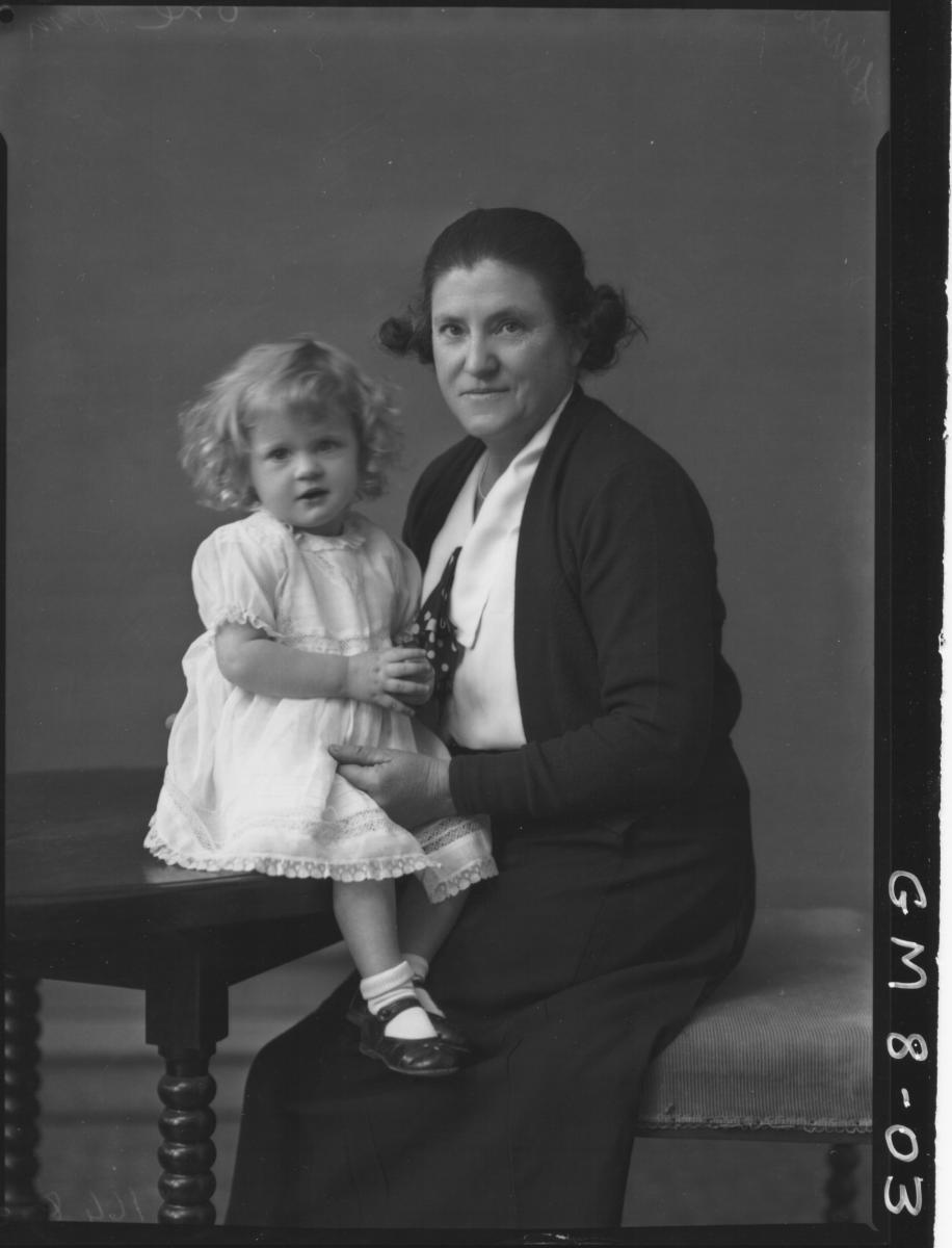Portrait of woman and child, Lewis.