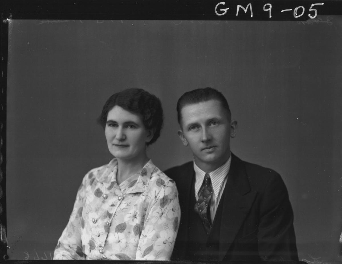 Portrait of woman and man, H/S Lambert.
