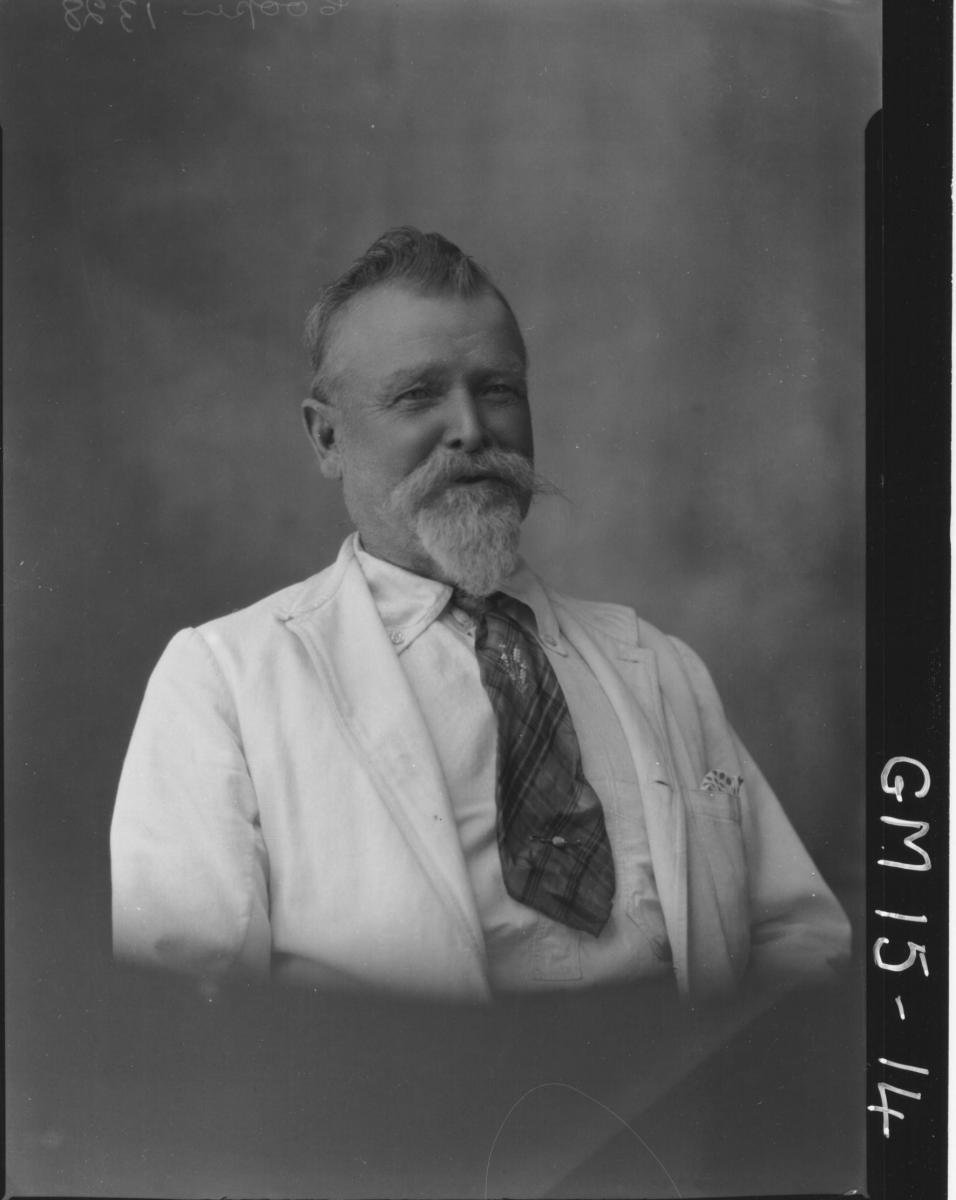 portrait of man with white beard H/S, 'Cooper'