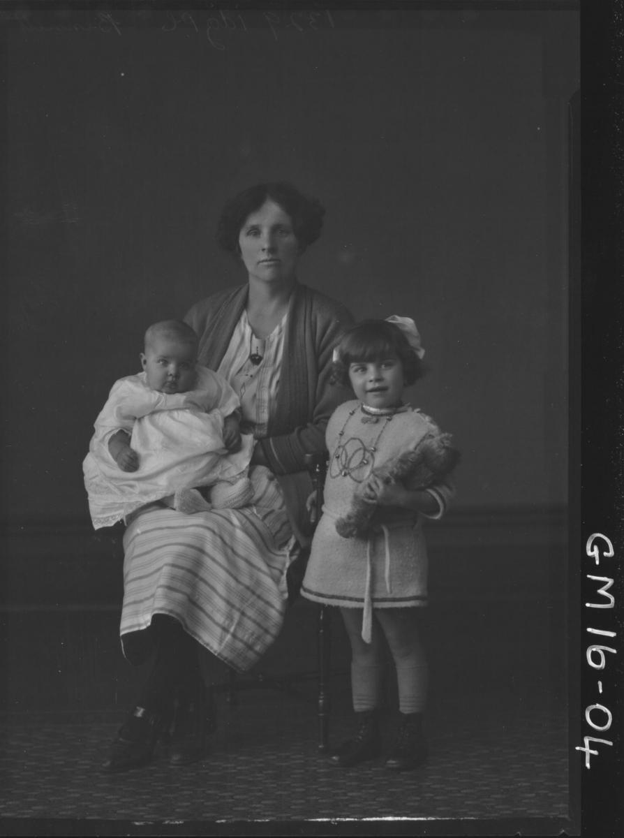 portrait of woman and two children F/L, 'Bennett'