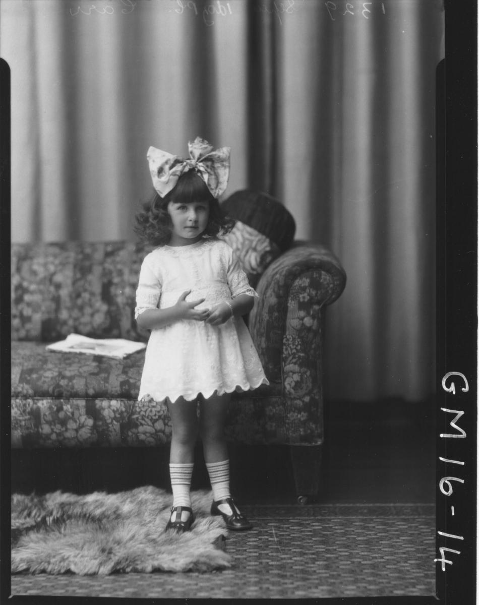 portrait of young girl F/L, 'Carr'