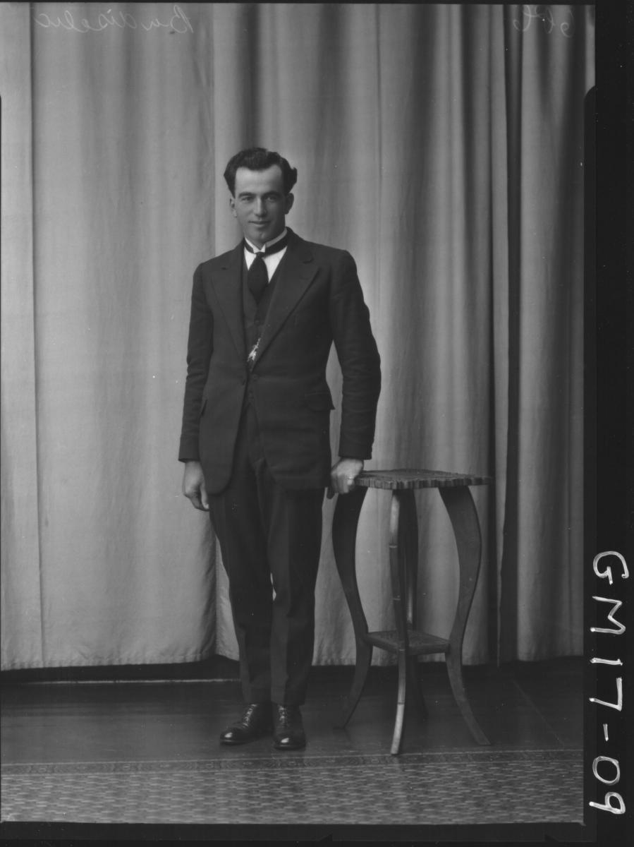 portrait of young man F/L, 'Budiscellic'