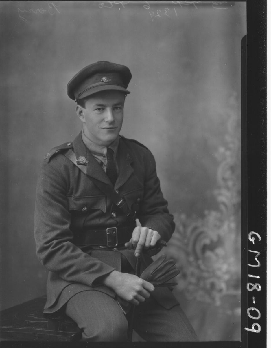 portrait of army officer H/S, (Jack) 'Berry'