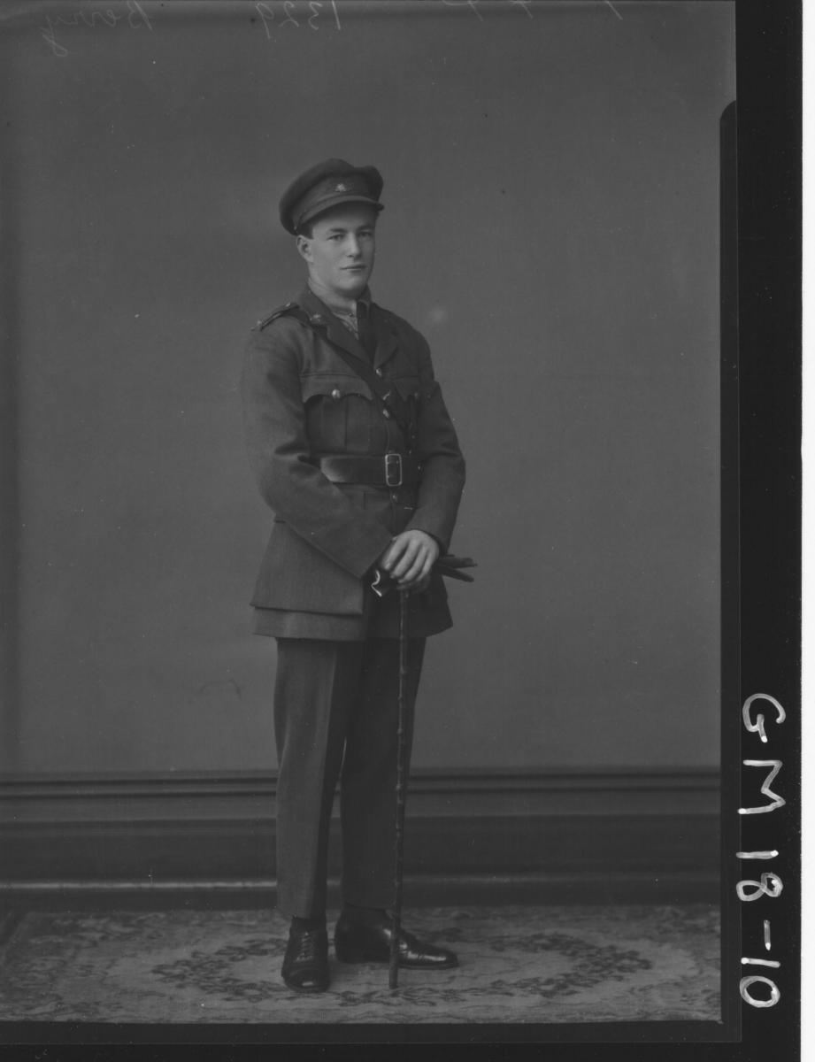 portrait of army officer F/L, (Jack) 'Berry'