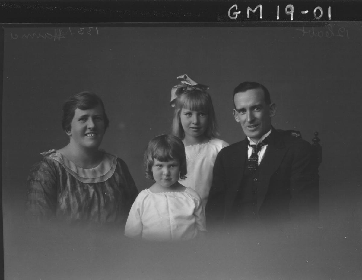 portrait of woman , man and two children H/S, 'Hanna'