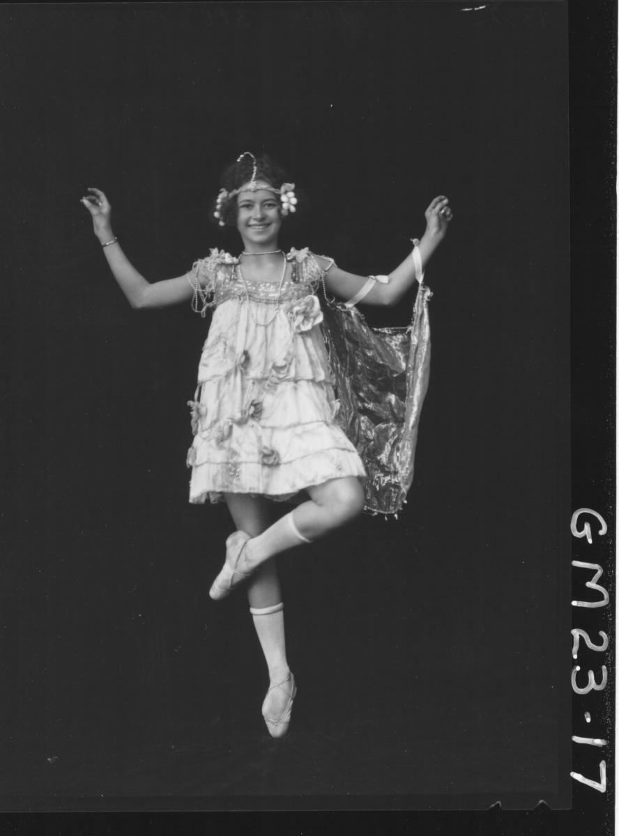 portrait of young girl in dance costume F/L, Harrington