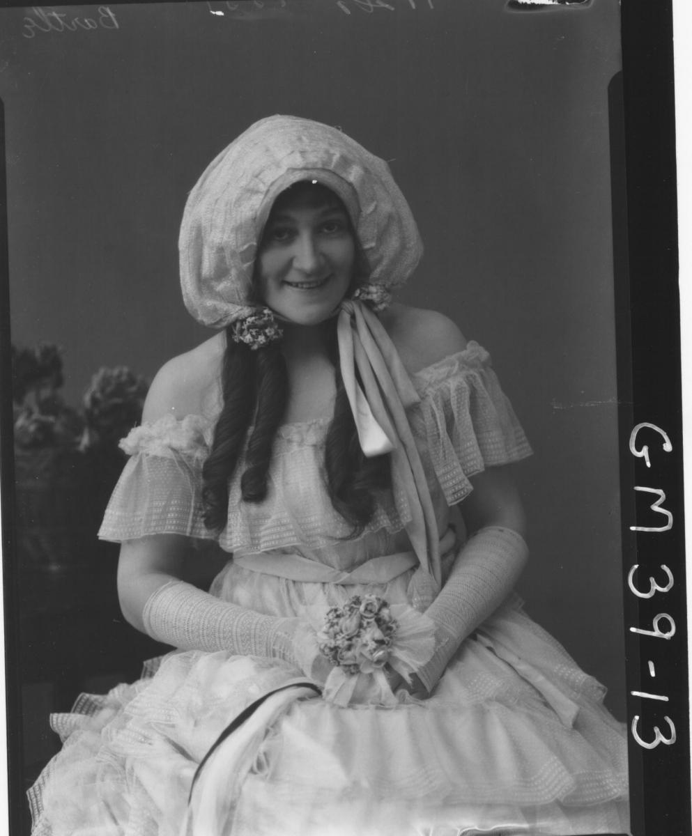 portrait of woman fancy dress, Bartle