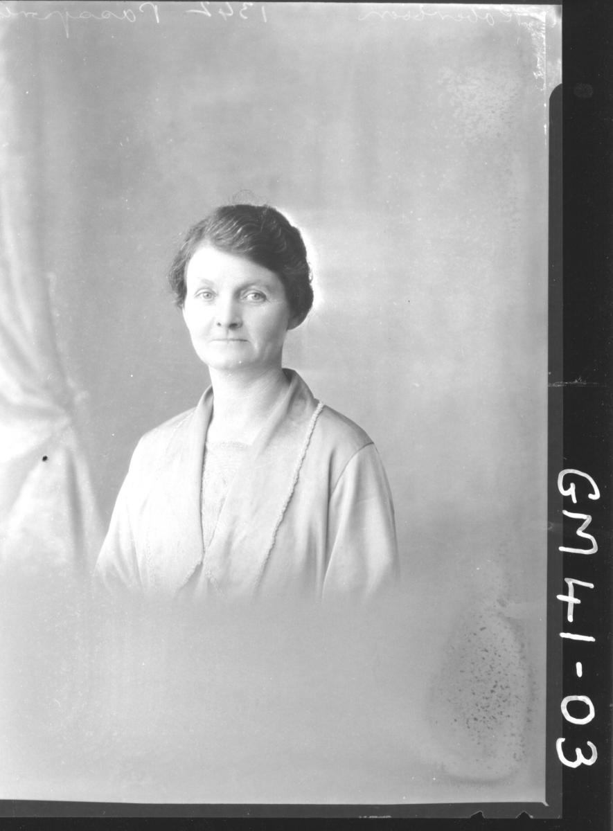 portrait of woman, H/S Robertson