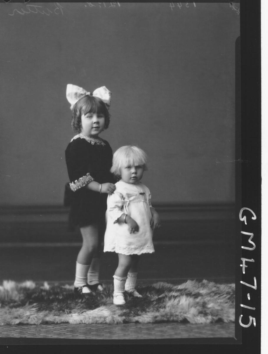 portrait of two children, F/L Butler