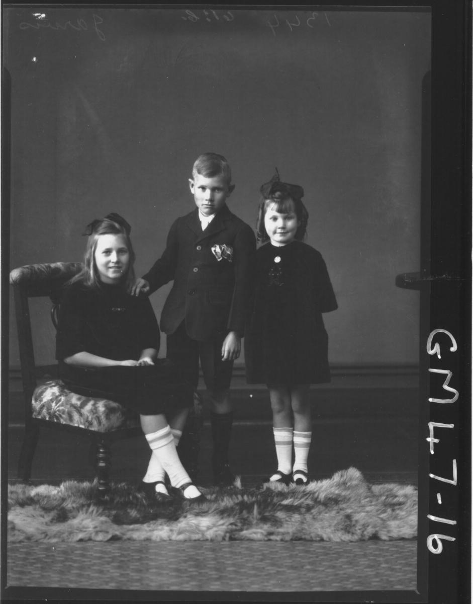 portrait of three children, F/L Jarvis