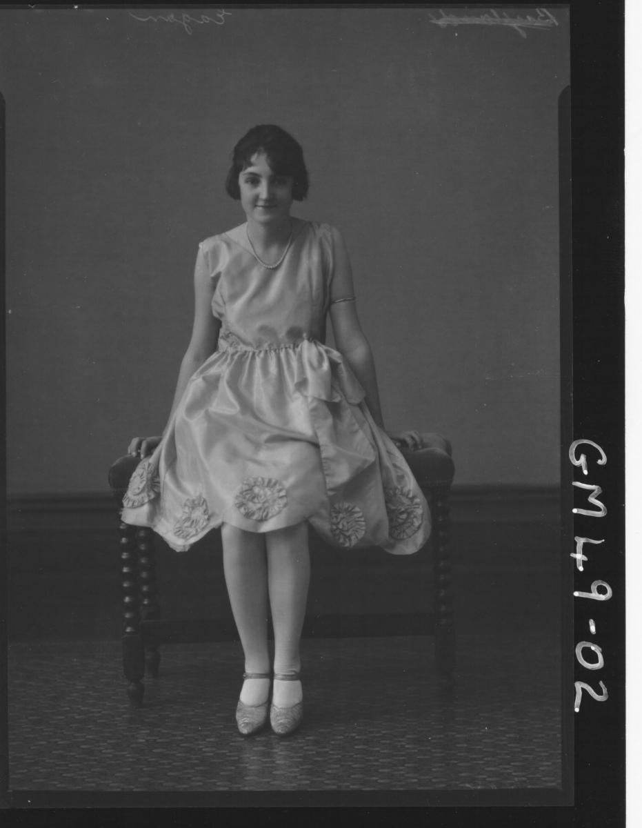 portrait of young woman, Egan