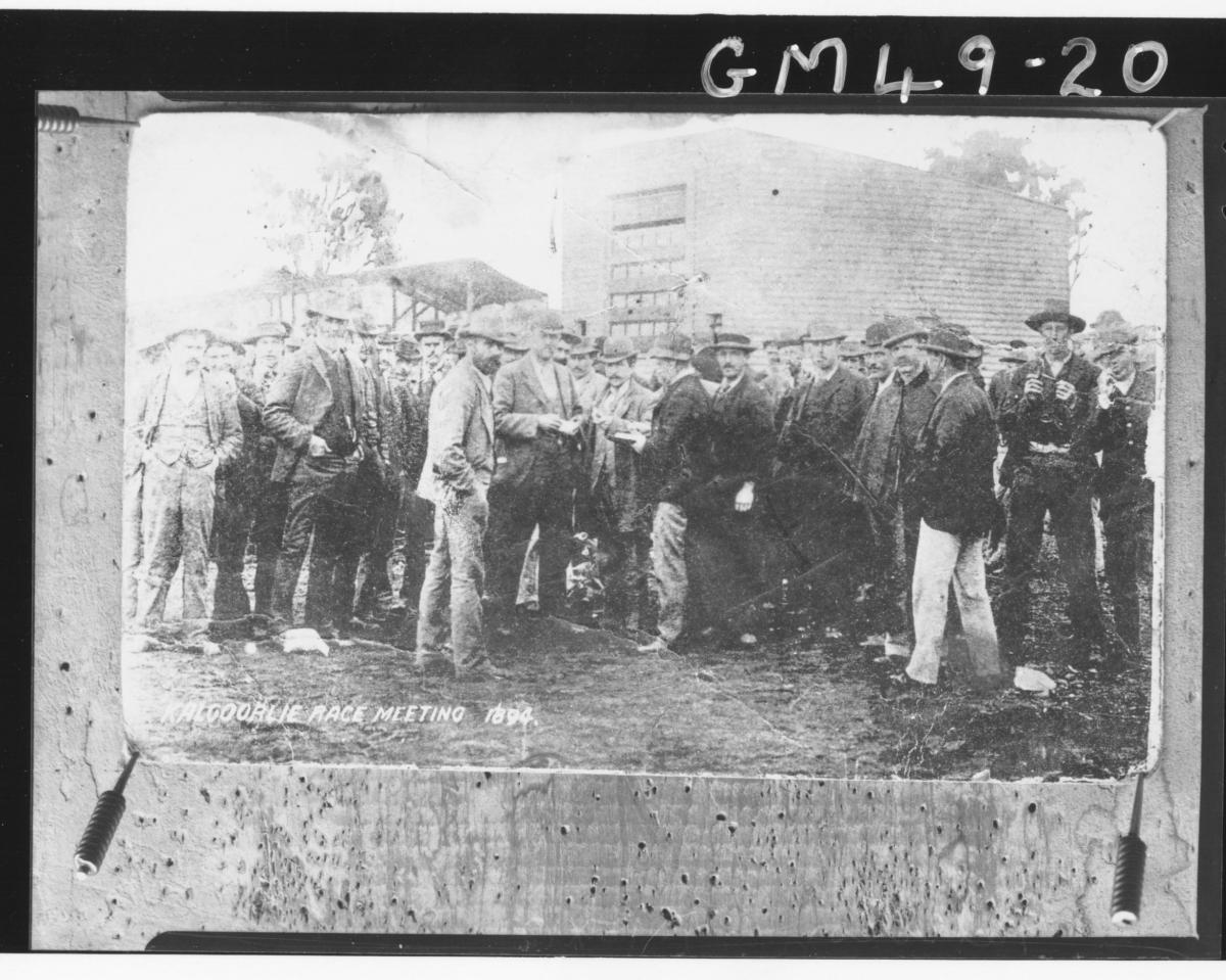 board pinned copy of Kalgoorlie race meeting, Paterson