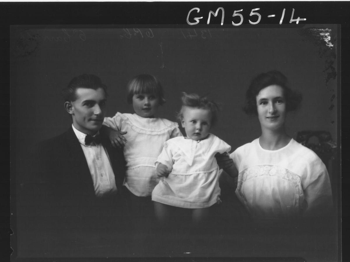 PORTRAIT OF WOMAN, MAN AND TWO CHILDREN, H/S O'CARROLL