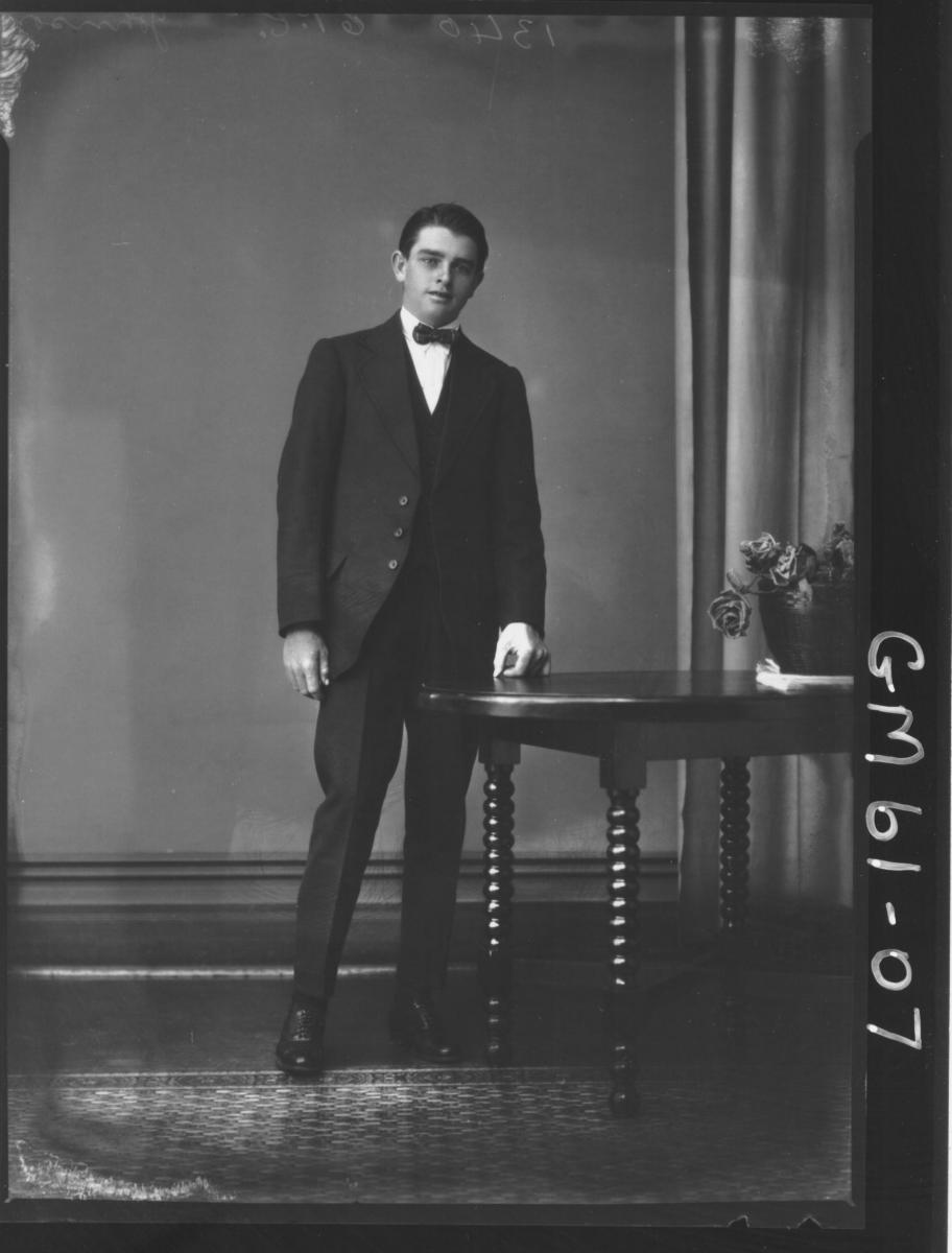 Portrait of young man F/L, Johnson