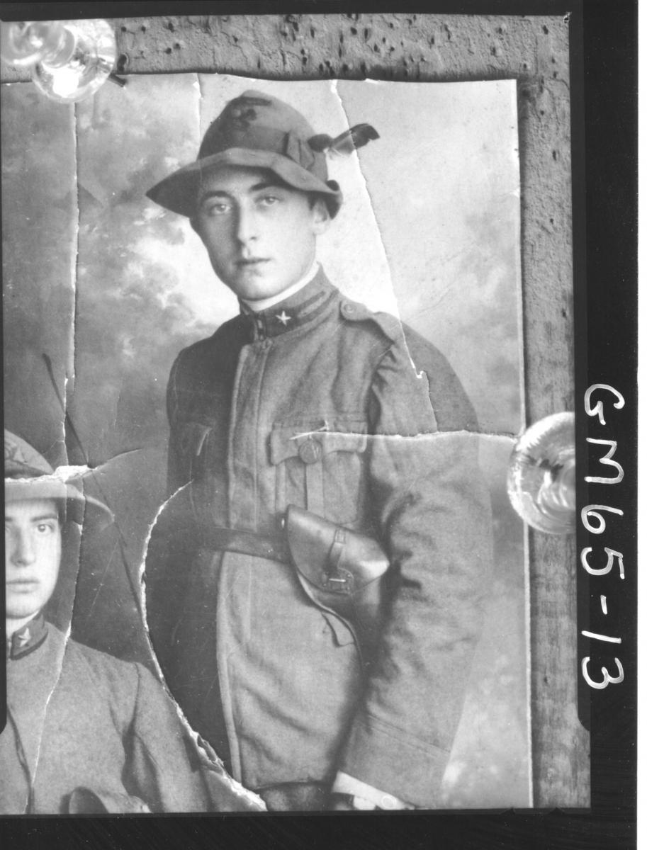 Copy of portrait of young man in military uniform, Tisi