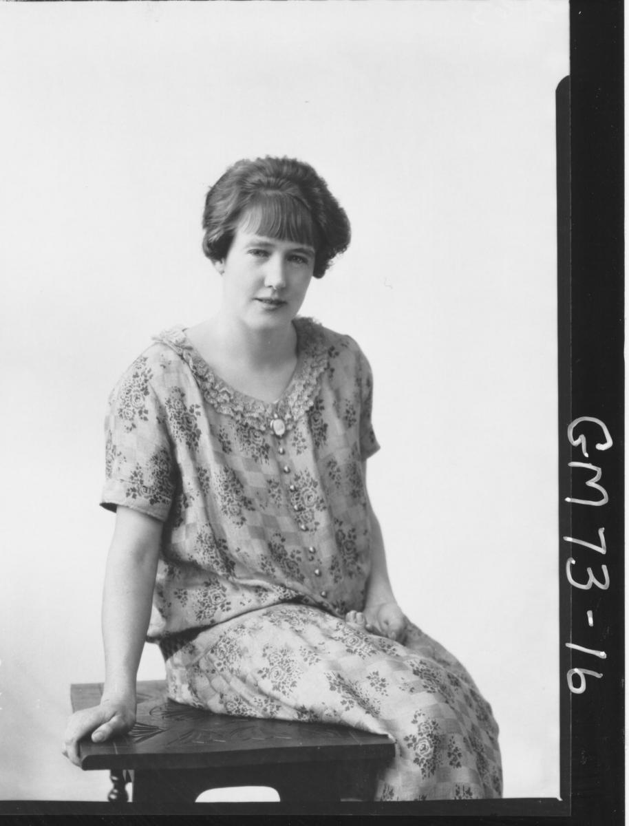 PORTRAIT OF WOMAN, F/L, MUIR