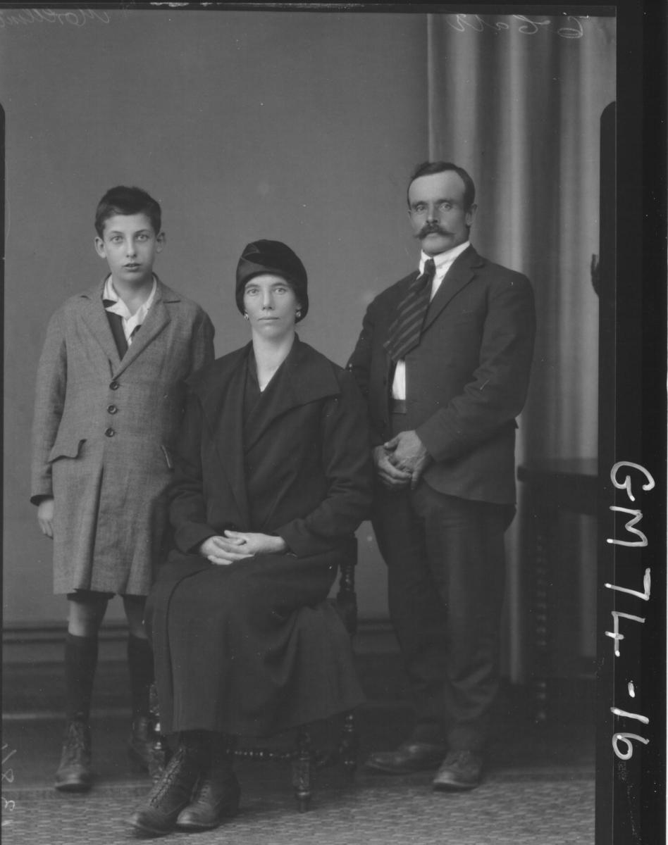 PORTRAIT OF WOMAN, MAN AND BOY, F/L, MORELLINI