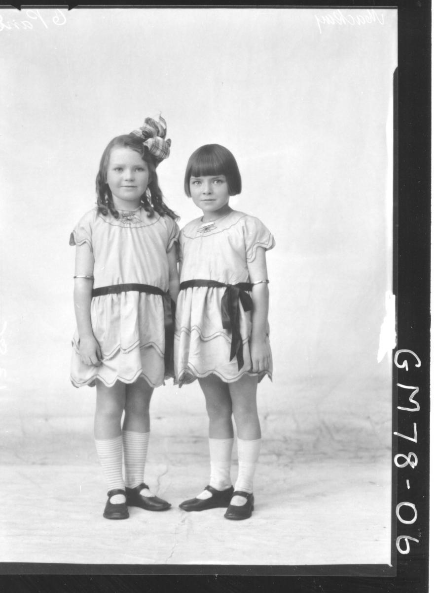 PORTRAIT OF TWO CHILDREN, F/L, MACKAY