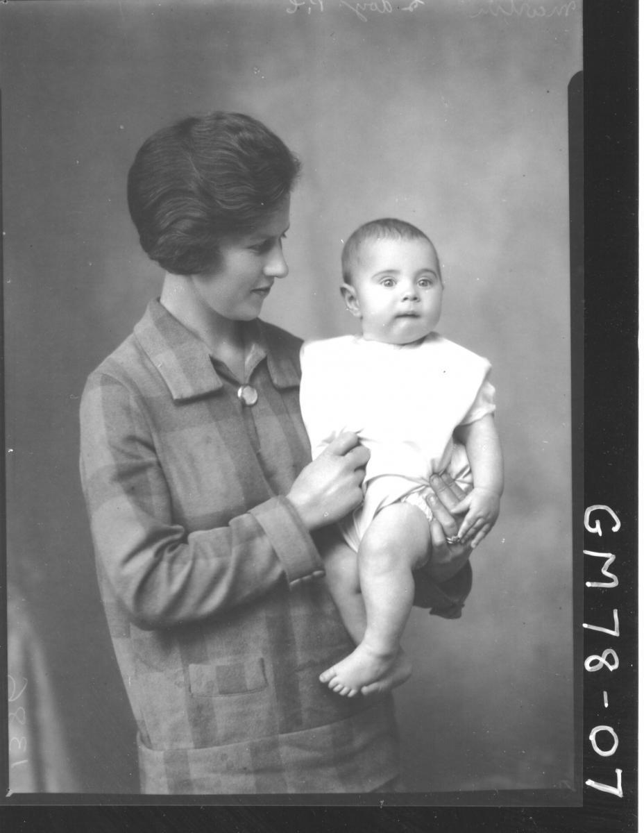 PORTRAIT OF BABY & WOMAN, MARTIN