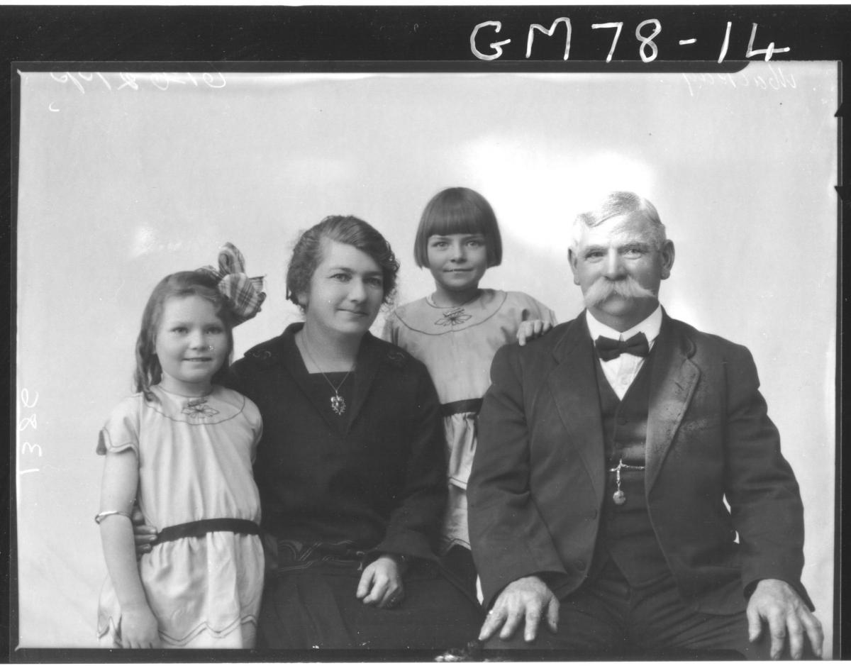 PORTRAIT OF WOMAN, MAN & TWO CHILDREN, MACKAY