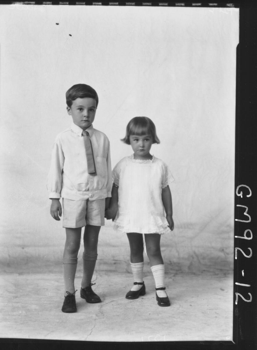 PORTRAIT OF TWO CHILDREN, 'HAIR'