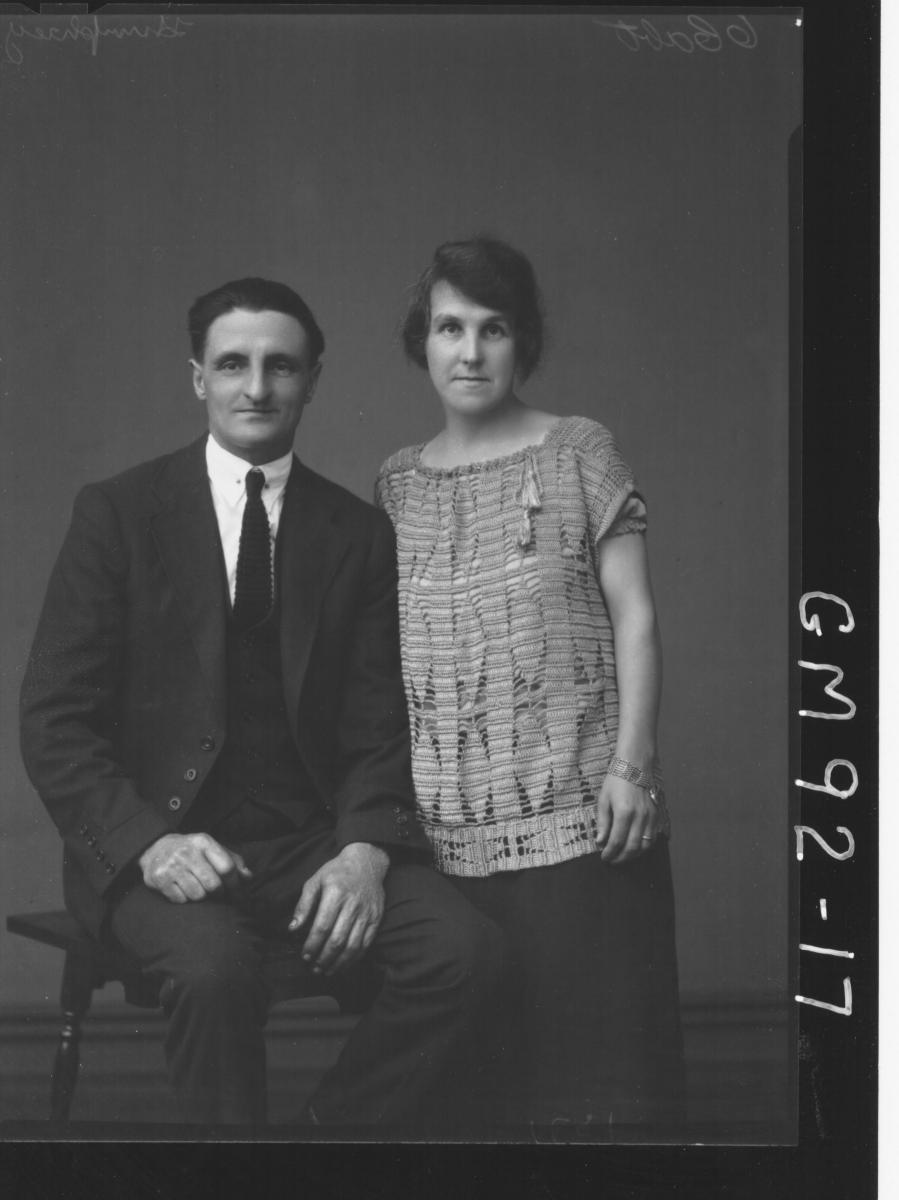 PORTRAIT OF MAN AND WOMAN, 'HUMPHREY'