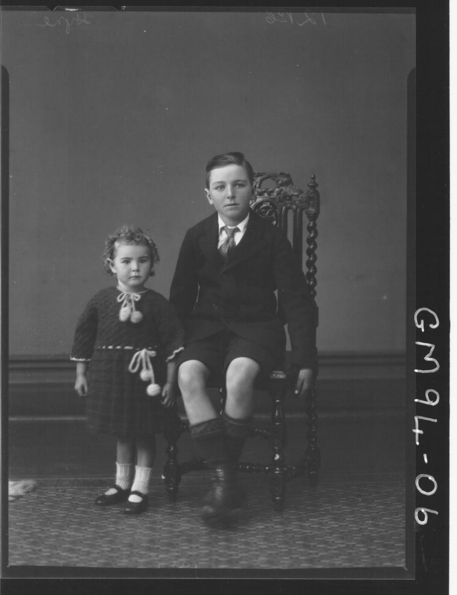 PORTRAIT OF TWO CHILDREN, 'HYNE'