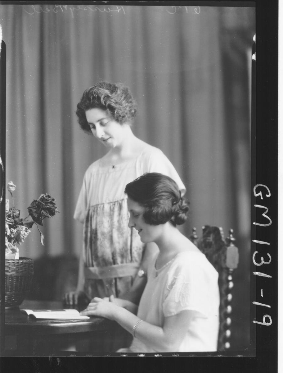 Portrait of two women 'Hussey' & 'Bell'