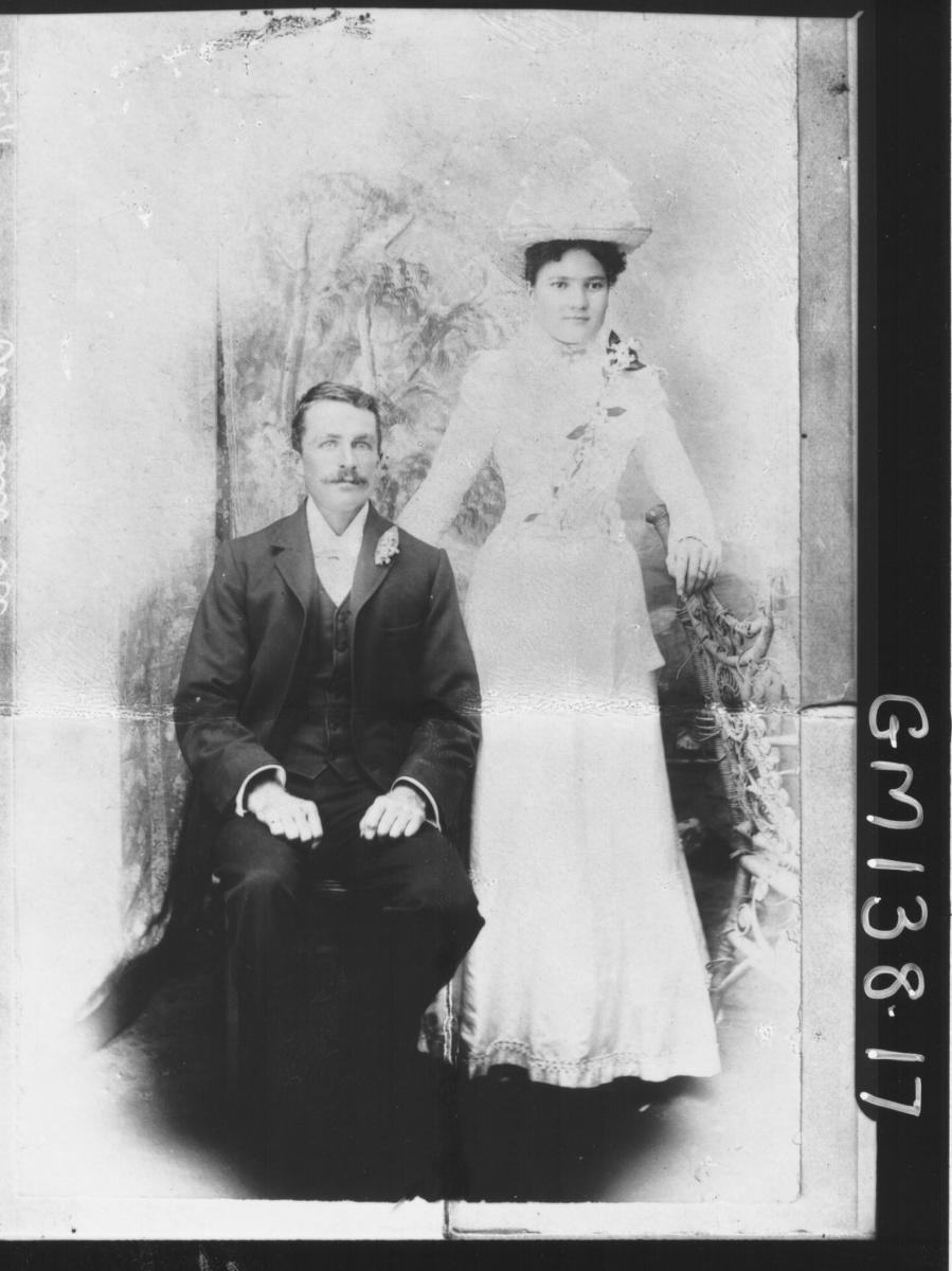 Portrait copy of man and woman 'McQuoid'