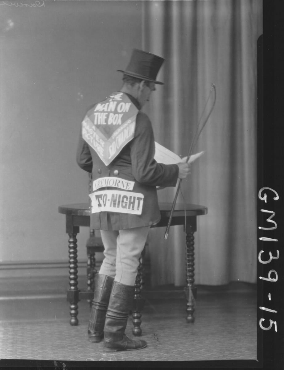 Man advertising Cremorne Theatre, Darwin