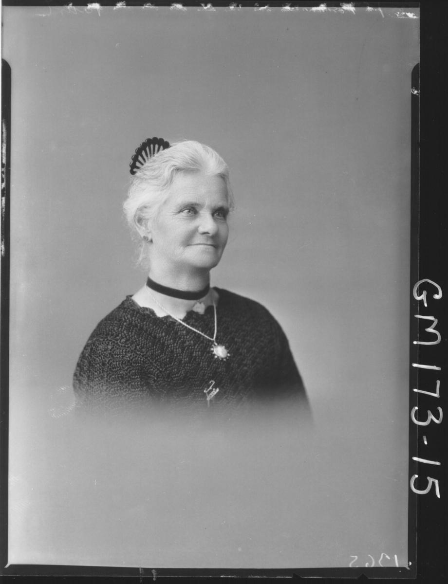 Portrait of elderly woman 'Burt'