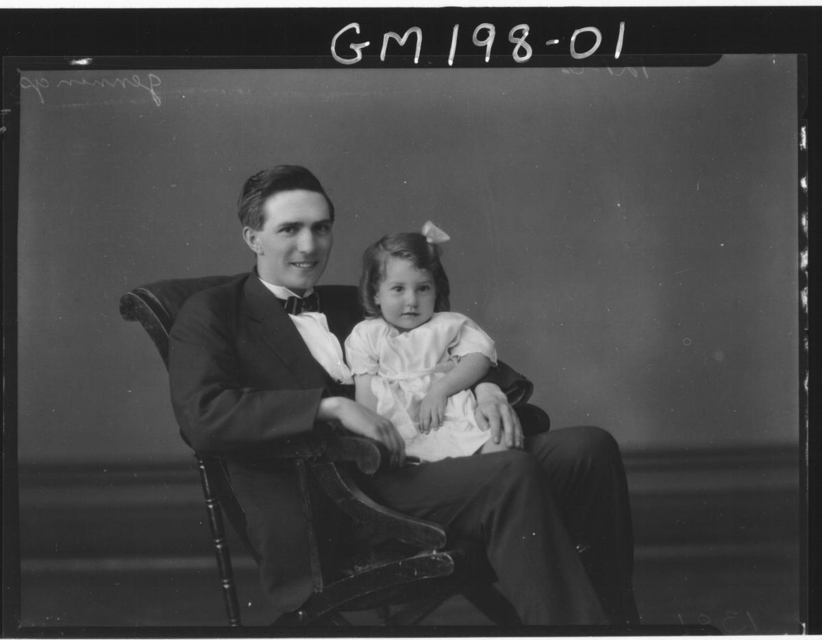 Portrait of man & child 'Jennings'