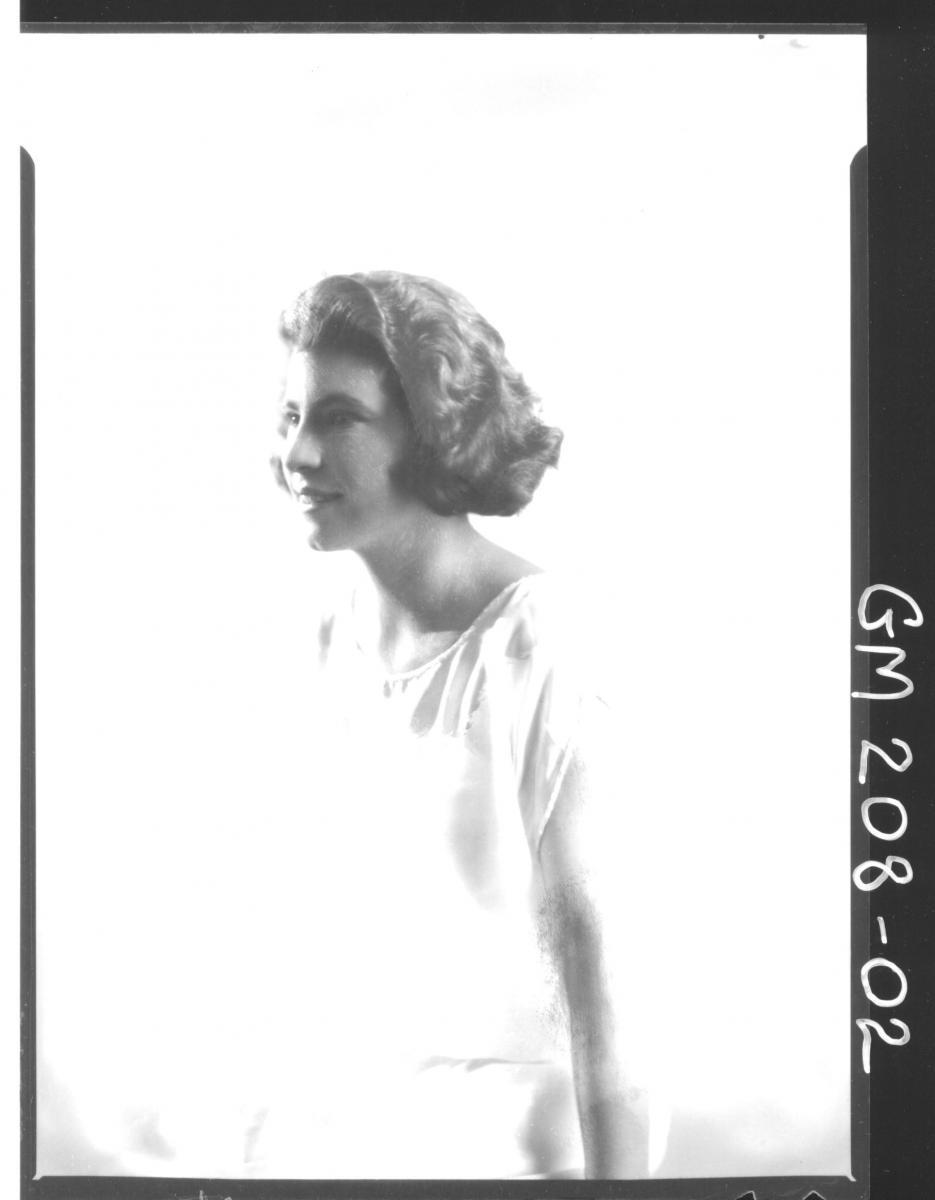 Portrait of woman 'Eastwood'